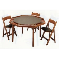 "52"" Oak Contemporary Folding Poker Table"