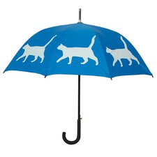 Dog Park Cat Walking Silhouette Stick Umbrella