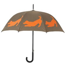 Dog Park Jack Russell Terrier Silhouette Walking Stick Umbrella