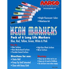 Neon Dry Erase Makers (Set of 6)