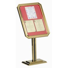 Single Pedestal Ornamental Sign and Poster Stand