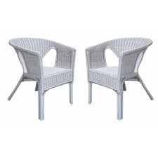 Rattan Living Wicker Dining Chair (Set of 2)