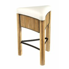 Bronzewood Fabric Tall Stool