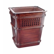 Grid Mahogany Waste Basket with Insert
