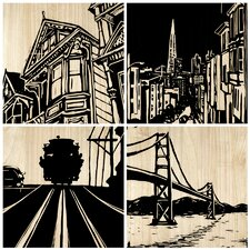 San Francisco City Panel (Set of 4)