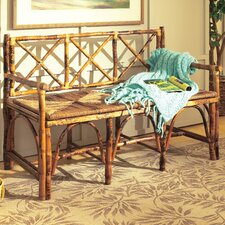 Coastal Chic Rattan English Bench