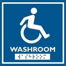 Wheelchair Symbol Comes with Braille Emboss