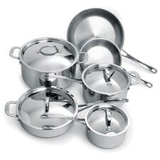 Elite 3-Ply Stainless Steel 10-Piece Cookware Set