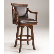"Palm Springs 30"" Swivel Bar Stool in Medium Brown Cherry"