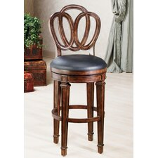 "Dover 30"" Swivel Bar Stool With Leather Seat"
