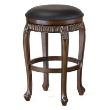 "Fleur De Lis 24"" Backless Counter Stool w/ Swivel"