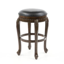 "Fleur De Lis 30"" Backless Swivel Bar Stool"