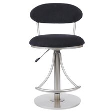 Venus Adjustable Swivel  Barstool in Black