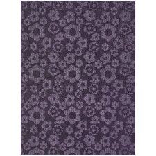 Magic Odor Eliminating Purple Flowers Rug
