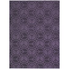 Magic Odor Eliminating Purple Large Peace Rug