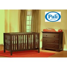 Pali Imperia Forever Crib and Volterra 3-Drawer Dresser Two Piece Set