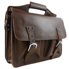 Professional Easy Access Leather Laptop Briefcase