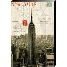 Empire State Building Postcard Wall Art