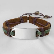 Leather and Hemp Bracelet