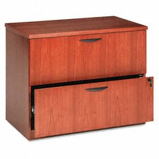 Veneer Two-Drawer Locking Lateral File with Beaded Edge Detail