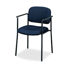 Four-High Stacking Fabric Chair with Leg Base