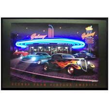 Galaxy Diner Neon LED Poster Sign