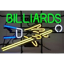 Business Signs Billiards Hand and Cue Neon Sign