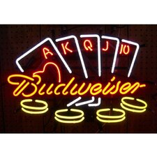 Business Signs Budweiser Poker Neon Sign