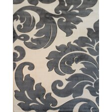 Melody Beige Vines Damask Rug