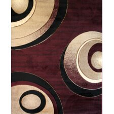 Melody Wine Eyed Peas Circles Rug