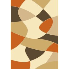 Melody Orange Coaster Rug