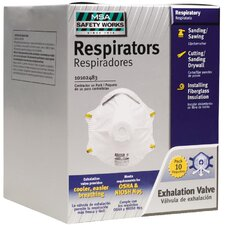 Dust Disposable Respirator with Exhalation Valve (10 Pack)