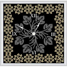 Floral with Leaves Art Clock