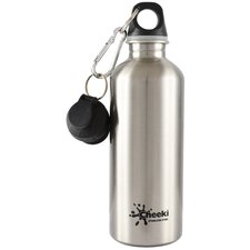 Cheeki 500ml 17oz Stainless Steel Water Bottle - Silver - BPA Free