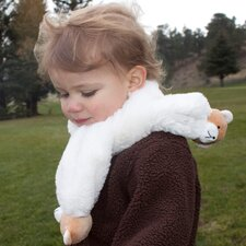 Soft & Cuddly Scarf with Bear Pompons