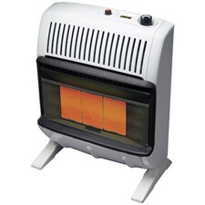 Vent Free 20,000 BTU Radiant Utility Natural Gas Space Heater
