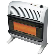 Vent Free 30,000 BTU Radiant Utility Natural Gas Space Heater
