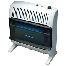 Garage Vent Free 30,000 BTU Radiant Utility Natural Gas Space Heater