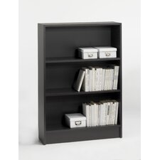 "Spectrum Wide 46"" High Bookcase in Coffee"