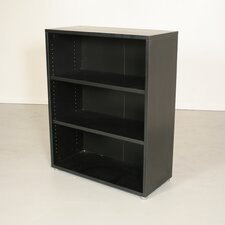 Pierce Office Three Shelf Bookcase in Coffee