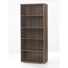 Cullen Tall Bookcase with Doors in Walnut