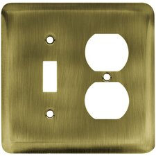 Stamped Round Single Switch/Duplex Wall Plate