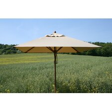 7'x10' Rectangular Bamboo Market Umbrella