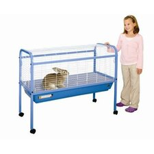 Jumbo Small Animal Cage on Stand with Casters - 47x22x37