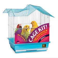 Double Roof Parakeet Bird Cage Starter Kit