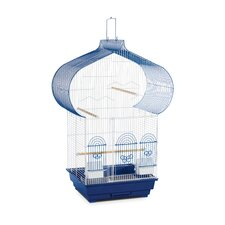Casbah Parakeet Cage in Blue and  White