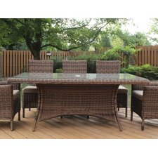 Del Ray Rectangular Wicker Dining Table