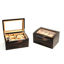 """Ebony"" Burl Wood 2 Watch Winder"