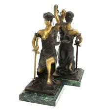 Kneeling Lady Justice Bookend