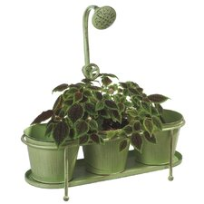 Triple Water Spicket Garden Round Pot Planter